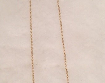 Short Faceted Ruby Jade Necklace on 14k Gold Filled chain