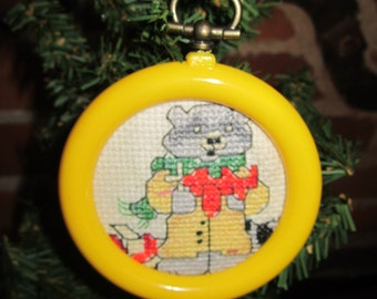 Cool Cat Christmas Ornament