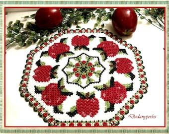 pattern bead weaving doily apple time