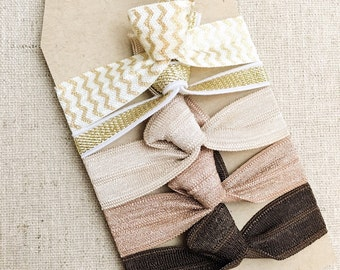 Shimmering Sands - Gift Set of 5 Perfect Hair Ties