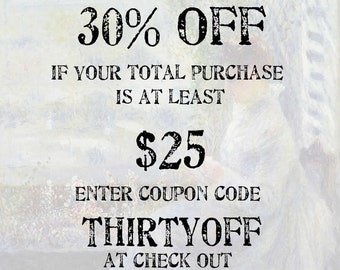 Xtra Savings COUPON CODE: 30% off if your purchase is at least 25 dollars; Use coupon code THIRTYOFF; (please do not purchase this listing)