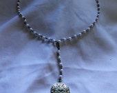Golden Calavera (Sugar Skull/Dia de los Muertos necklace)