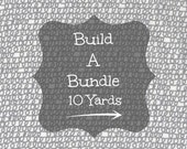 Fabric Bundle /Built A 10 Yard Bundle/ 10 Yards of Fabric/Cotton Sewing Material/Quilting, Clothing and Craft