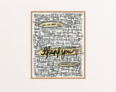 Thank You, Gift, Art Printables, Vintage, Quote, Wall Art, Living Room, Bedroom, Kitchen, Words, Letters, Room, Christian, Collectible