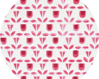 Blooms in Pink CANVAS - Monochrome by Kokka - Fat Quarter, Half Yard or More