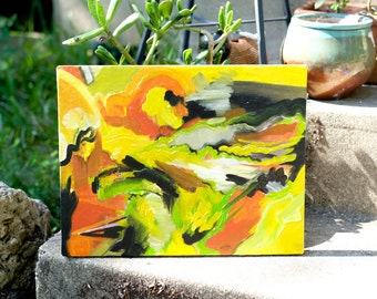 Small Yellow Abstraction