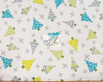 Arctic Antics Christmas Trees By Wilmington Prints Flannel Fabric Sold By The Yard FH-132 Clothing Bed Spreads Baby Blanket
