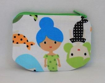Little Zipper pouch, coin purse  Cute Mermaid