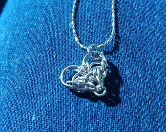 Dainty Chainmaille Heart Necklace