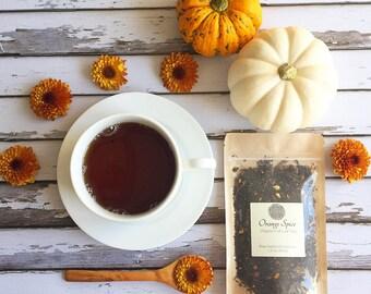 Organic Orange Spice Tea / Black Tea / Loose Leaf Tea / Ceylon Tea / Autumn Tea / Winter Tea