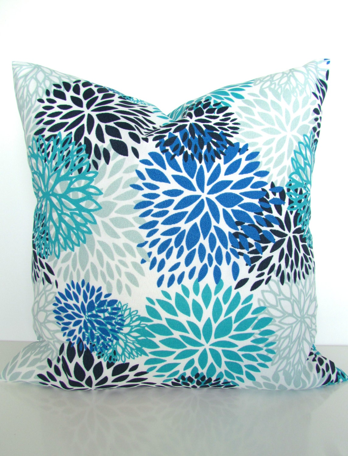 Royal Blue And White Throw Pillows : Royal BLUE PILLOWS Blue Outdoor Pillow Covers Turquoise