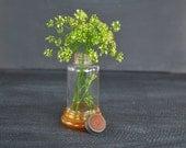 Antique German Bottle ~ Vintage Medicine Bottle ~ Screw Cap Top with Rubber Insert ~ Vintage Glue Bottle ~ Marked Germany ~ Amber Glass