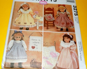 McCalls 3275 18 Inch Doll Clothing Pattern Uncut