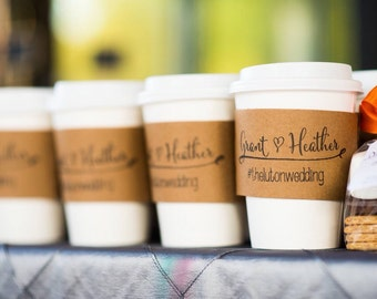 100 Custom Coffee Sleeves with CUSTOM STAMP