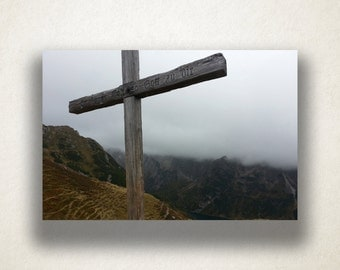 Cross in a Valley Canvas Art, Large Cross Wall Art, Religious Canvas Print, Close Up Wall Art, Photograph, Canvas Print, Home Art