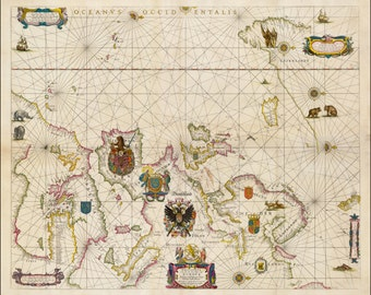 World map poster,  World map, Old World Map, 175