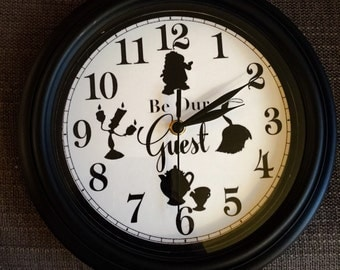 Be Our Guest Wall Clock