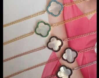 clover bracelet,clover jewelry,mother of pearl clover bracelet,gold clover,silver clover,bridesmaid jewelry,bridal jewelry