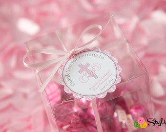 Religious Favor Tags - Pink