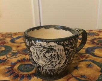 Ceramic rose teacup