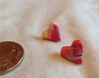 Polymer Clay Marble Stud Earrings