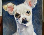 Custom dog portrait oil painting