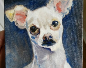 Custom dog portrait acrylic painting