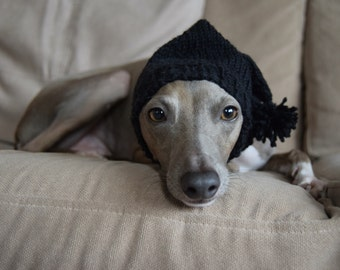 Italian Greyhound Hat Superwash Wool Standard Iggy Size