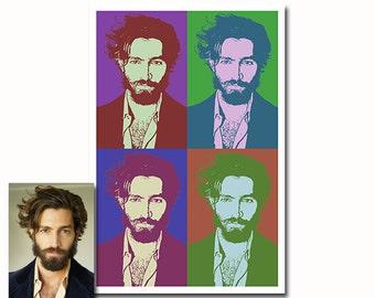 Custom Pop Art portrait - 3 colors