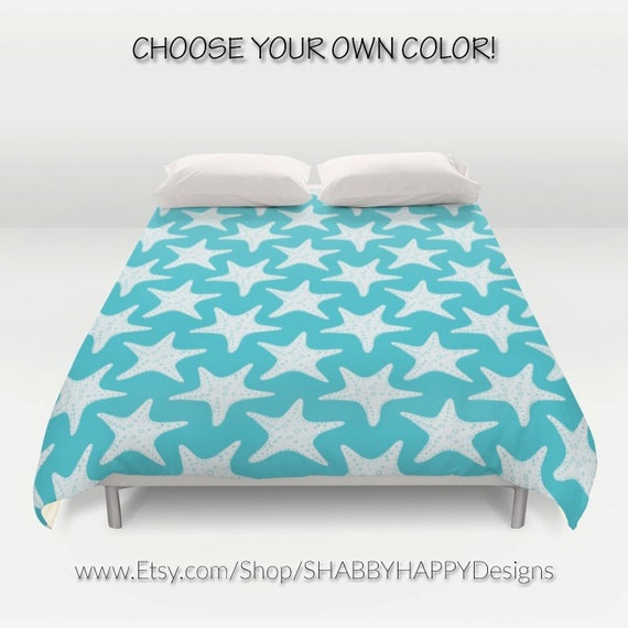 Beach Robins Egg Blue Starfish Duvet Comforter Cover