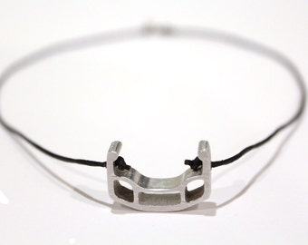 Section Necklace / recycled bicycle rim