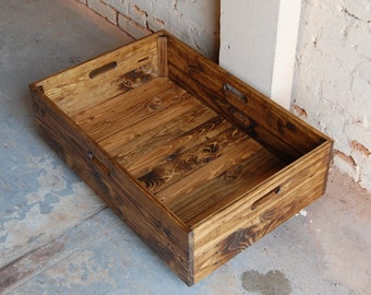 Under Bed Storage Rolling Crate from Reclaimed Wood ...