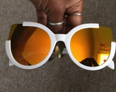 Deadstock Retro Cat eye White frame Sun Glasses