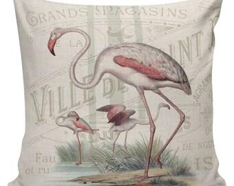 Nautical Pillow, Shell Pillow, Beach Pillow, French, Flamingo, Seashell Decor, Throw Pillow Cover, #NA0130, Elliott Heath Designs