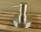 Handmade Stainless Steel Foaming Soap Pump Lid -  Mason Jar Pump Lid - Lid Only - DIY