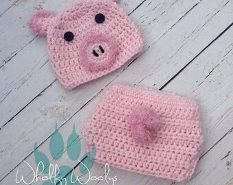 Crochet Photo Prop- pig set *Made to Order*