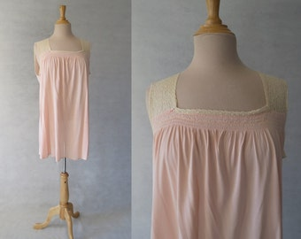 Smocked Nightgown - 1930s/1940s