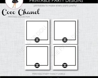 Coco Chanel Inspired Printable Fancy Labels : Printable Party Designs by The Paper Doll