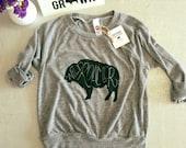 Wild roamer grey  kids pullover
