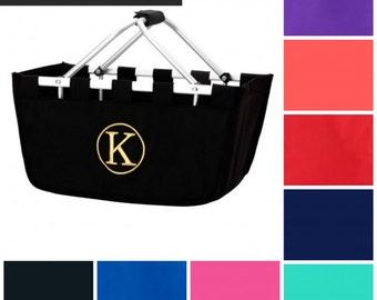MARKET TOTE, Personalized Easter Basket, Easter Tote,  Gift For Teacher, Monogrammed Basket, Gift For Her, Custom Gift, Teacher Gift