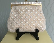Gorgeous Faux Mother-of-Pearl Evening Bag with Strap