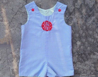 4th of July outfit, baby boy clothes, personalized baby boy outfit, toddler boy clothes, red white and blue jon jon, toddler outfit