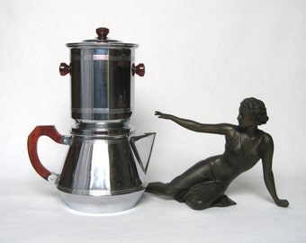 Fabulously Attractive Vintage French Chromium Coffee Biggin, from the Art Déco 1930s