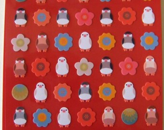 "SALE  Stickers From Mind Wave ""Kotoritachi"" (Little birds)"
