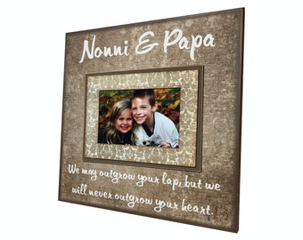 NONNI Gift from Grandchildren ~ Picture Frame For Nana & Papa ~ Personalized Grandmother ~ Grandfather Mimi ~ Papaw ~ Customized Frame