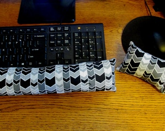 Black and White Wrist Rest, Keyboard Wrist Rest, Mouse Wrist Rest