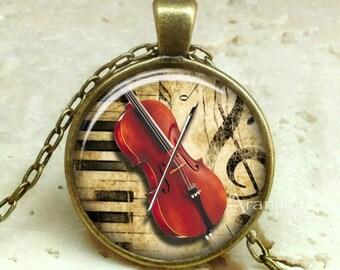 Cello necklace, cello pendant, cello jewelry, music pendant, music necklace, music jewelry, band pendant, Pendant#HG137BR