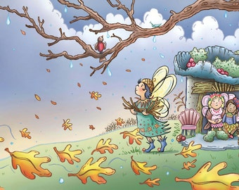 Where Do Fairies Go When It Snows? Fall Fairies Print
