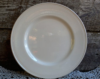 """WHITE LARGE DINNER Plate,""""Charger Plate"""", Royal Stafford, Beaded Edge, Stunning, 11"""", Tableware, French Country, Farmhouse Decor, Wall Decor"""