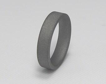 Titanium Wedding Ring or Band Sandblasted